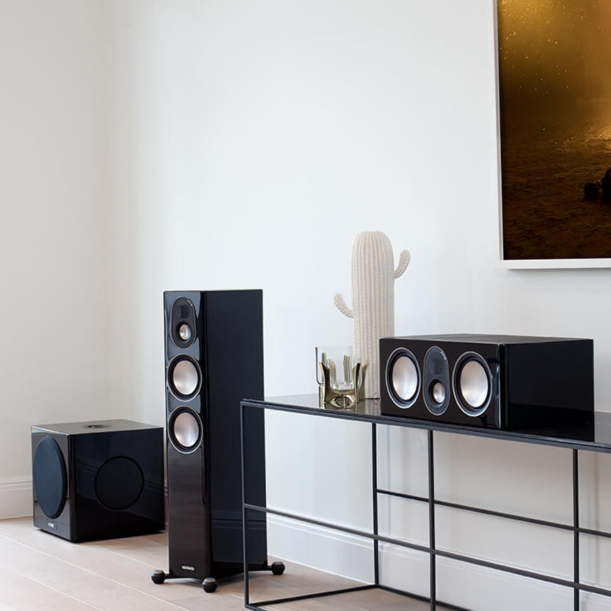 Monitor Audio system for home with a subwoofer