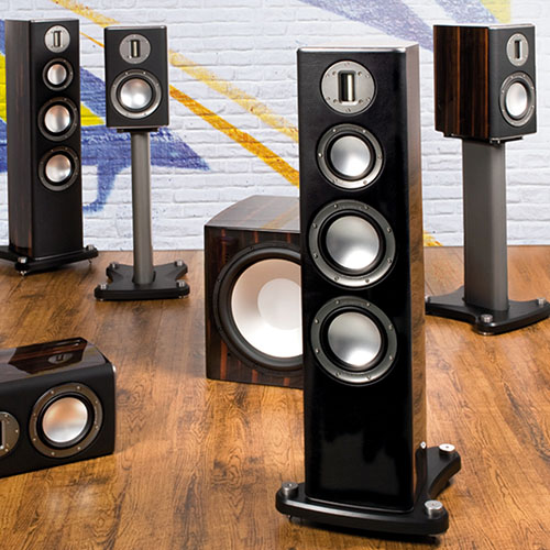 Monitor Audio home speakers from different series
