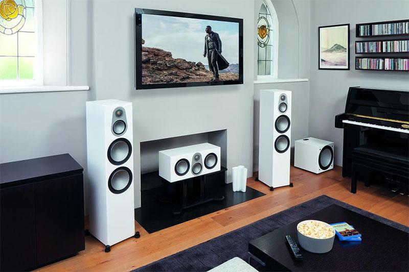 Monitor Audio Silver 500 floor-standers in the room